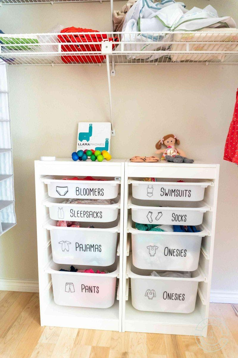 2. Keep Kids Clothes Organized With These Cute Dresser Drawer Labels by simphome.com