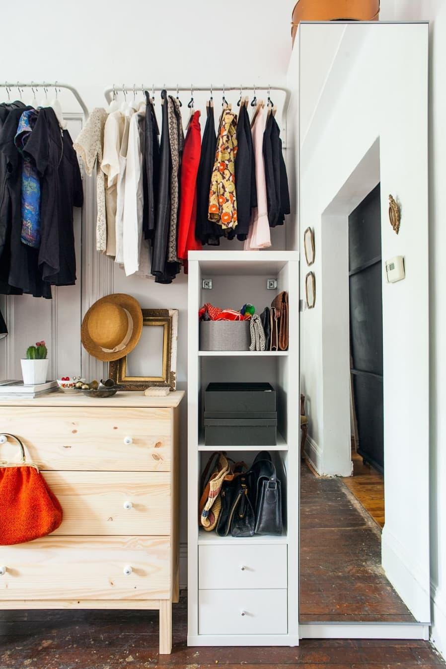 2. No Closet solution Idea by IKEA by simphome.com
