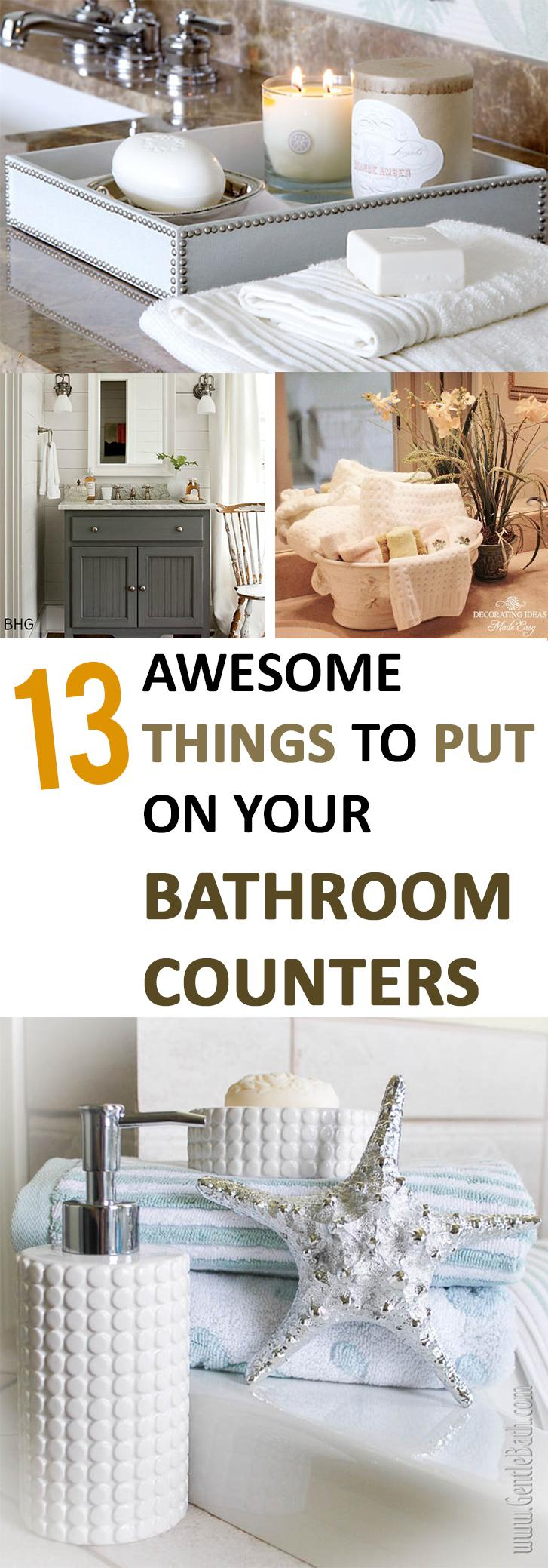2. awesome things to put on your bathroom couters by simphome.com