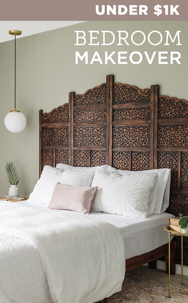 3. 1 Day 1k Boho Bedroom Transformation by simphome.com