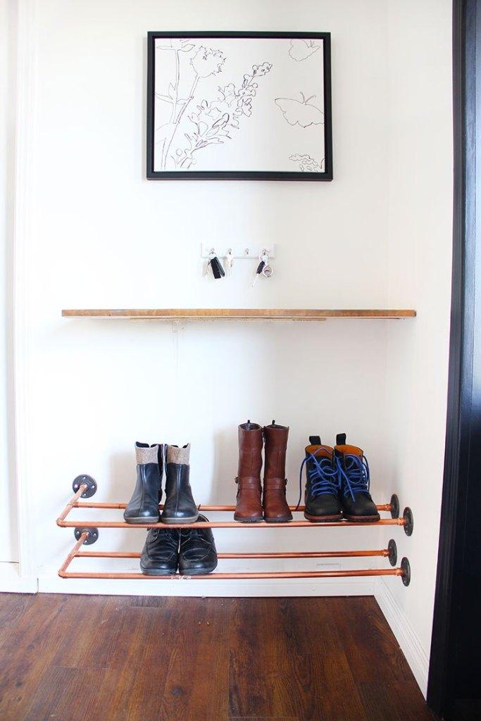3. Copper Shoe Rack by simphome.com 2