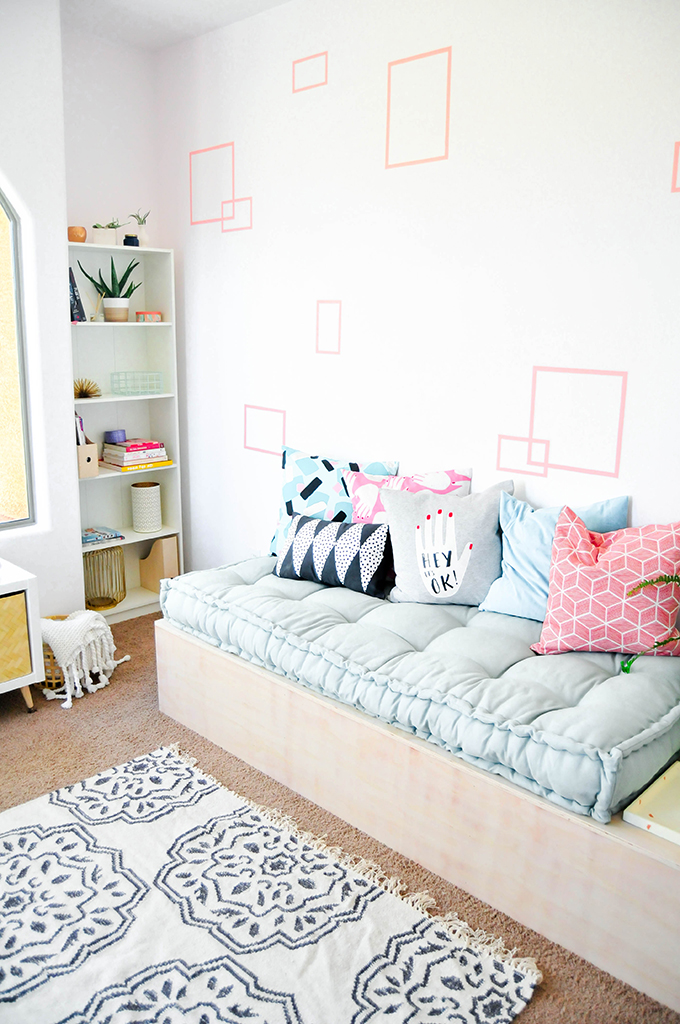 3. DIY Minimalist Daybed With Storage by simphome.com