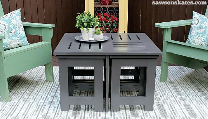 3. DIY outdoor coffe table Project Idea by simphome.com