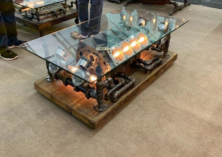 4. A steampunk coffe table project idea by simphome.com