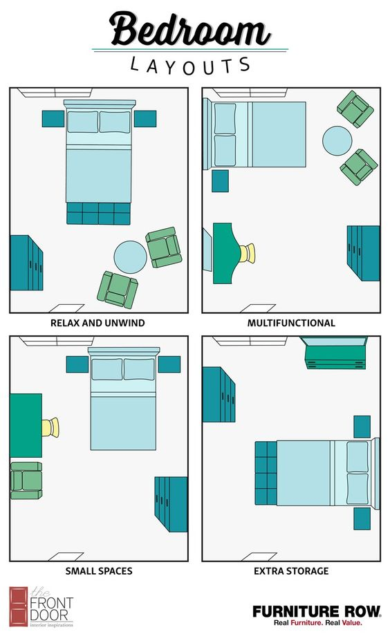 4. Bedroom Layouts Idea by simphome.com