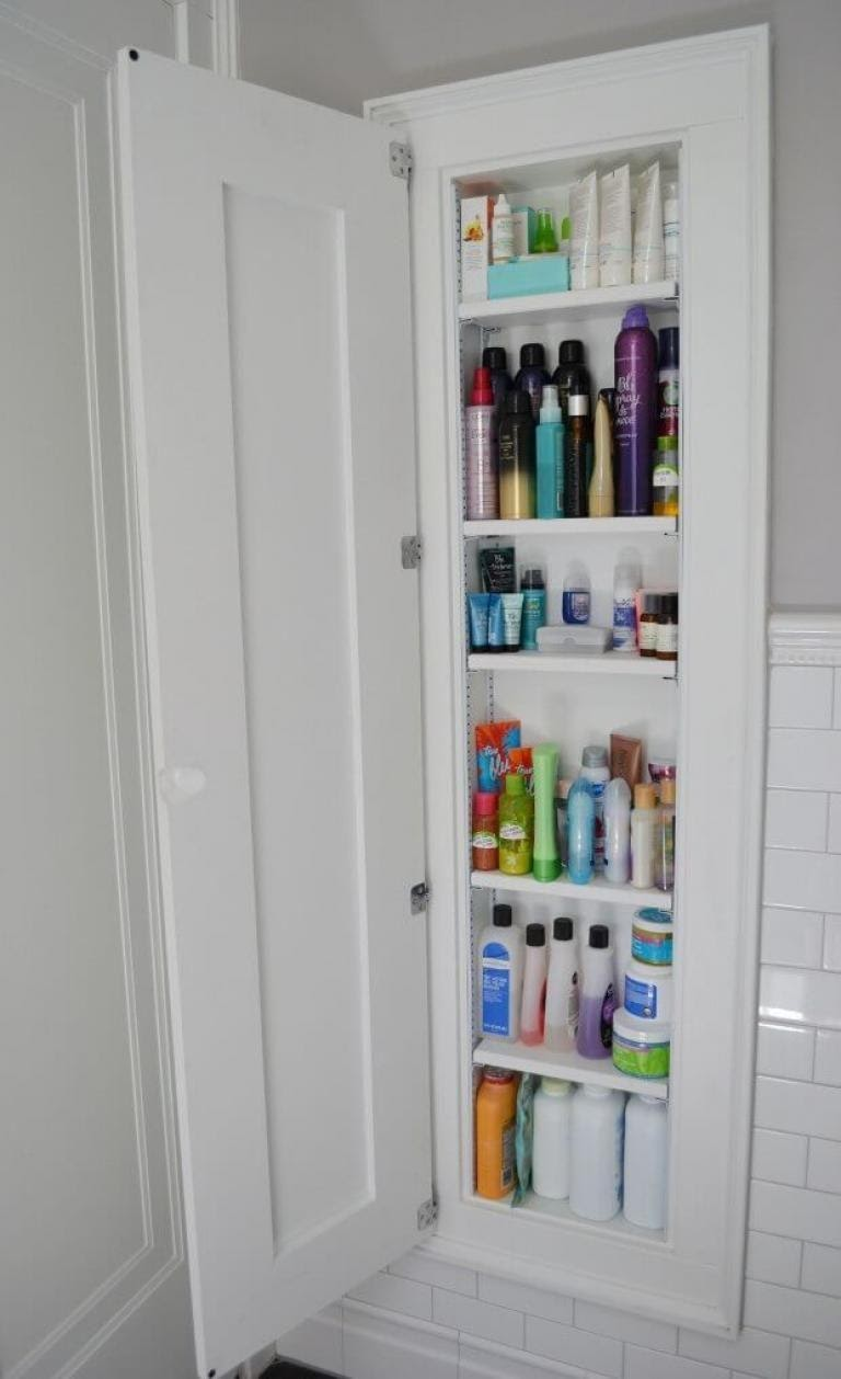 5. Affordable and Effortless DIY Wall Cabinet by simphome.com