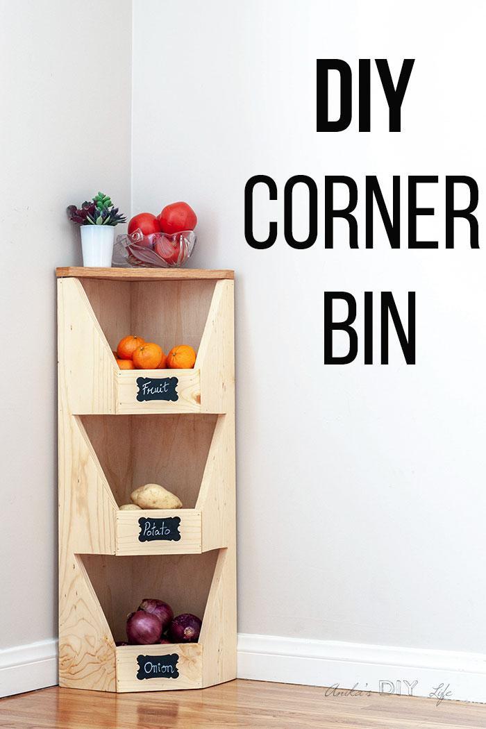 5. DIY Corner Bin by simphome.com