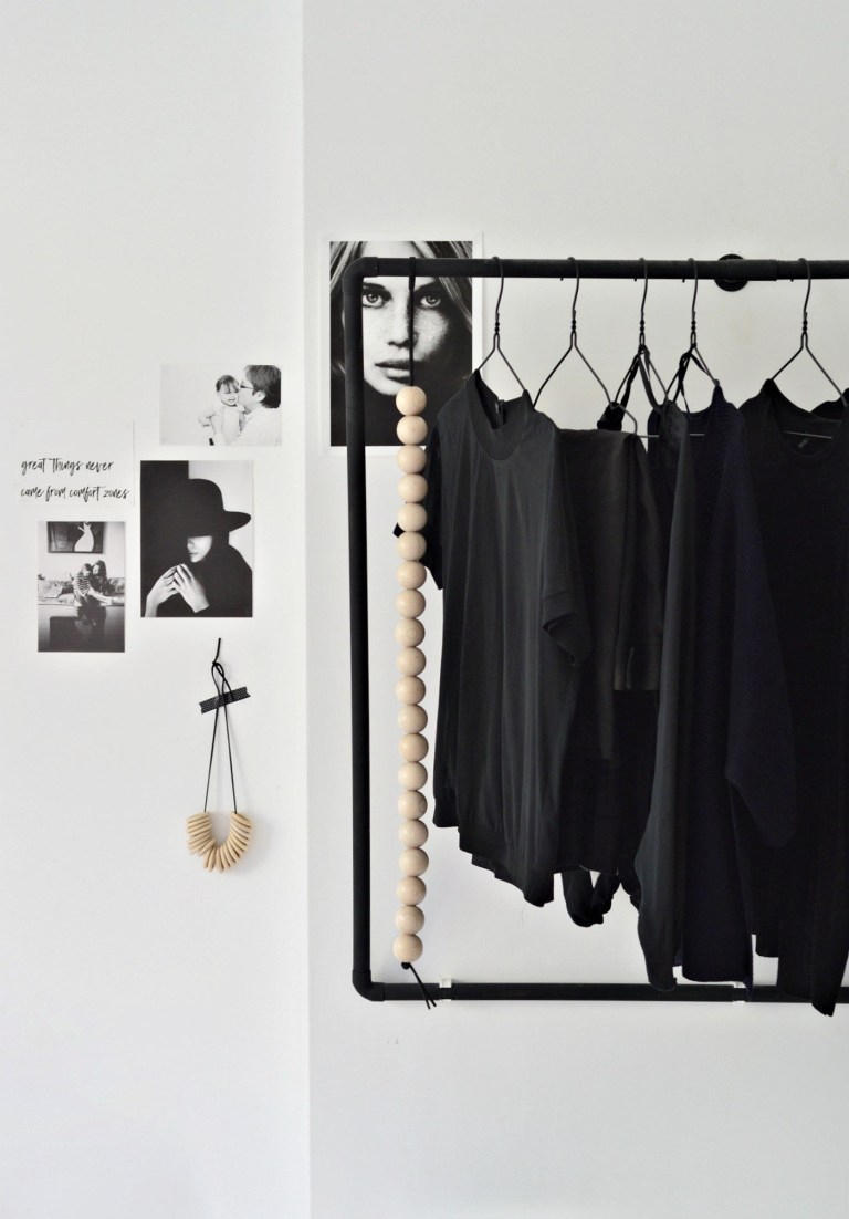 5. Make This Minimal Open Wardrobe DIY For Your Bedroom by simphome.com