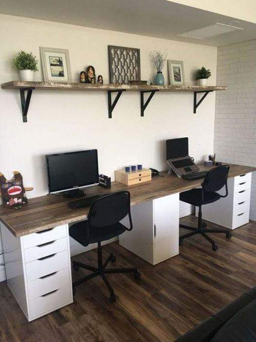 6. Computer desk ideas for your home office by simphome.com