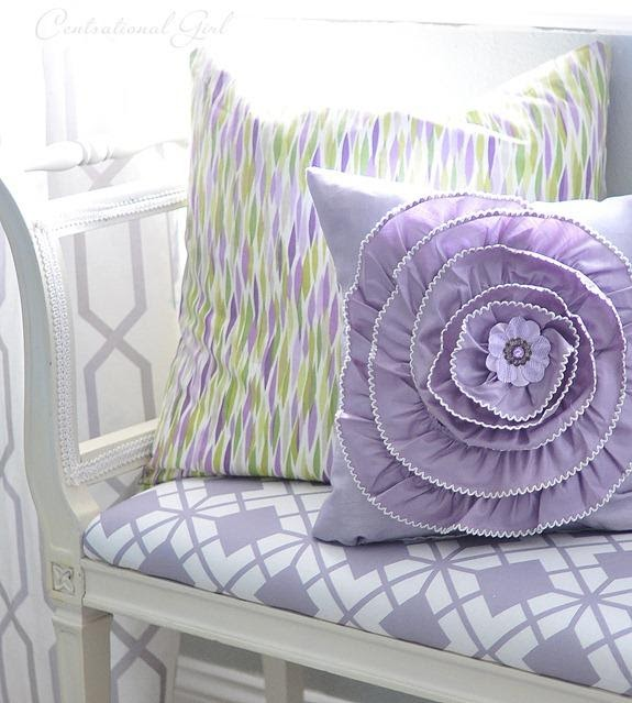 6. DIY Floral Pillow by simphome.com