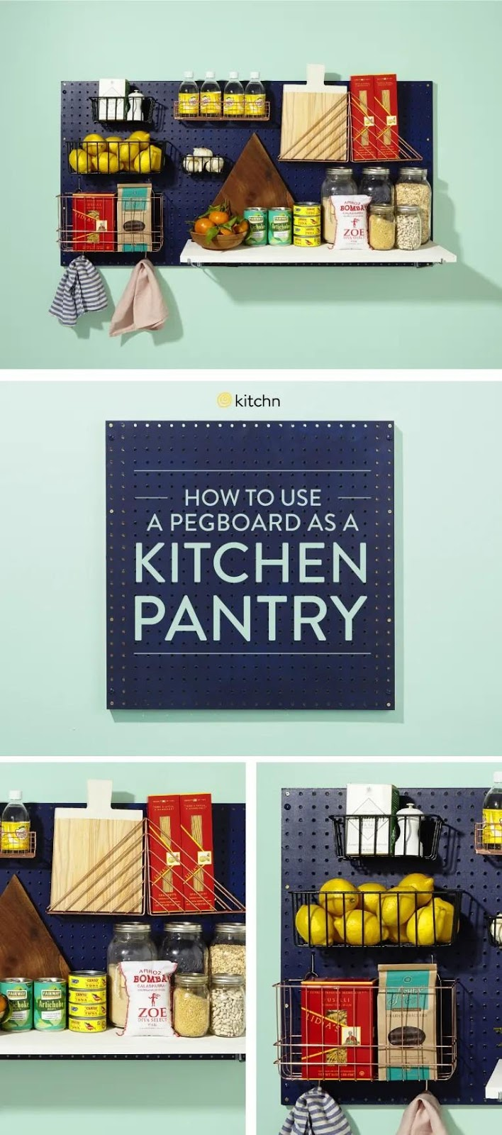 6. Pegboard Pantry by simphome.com