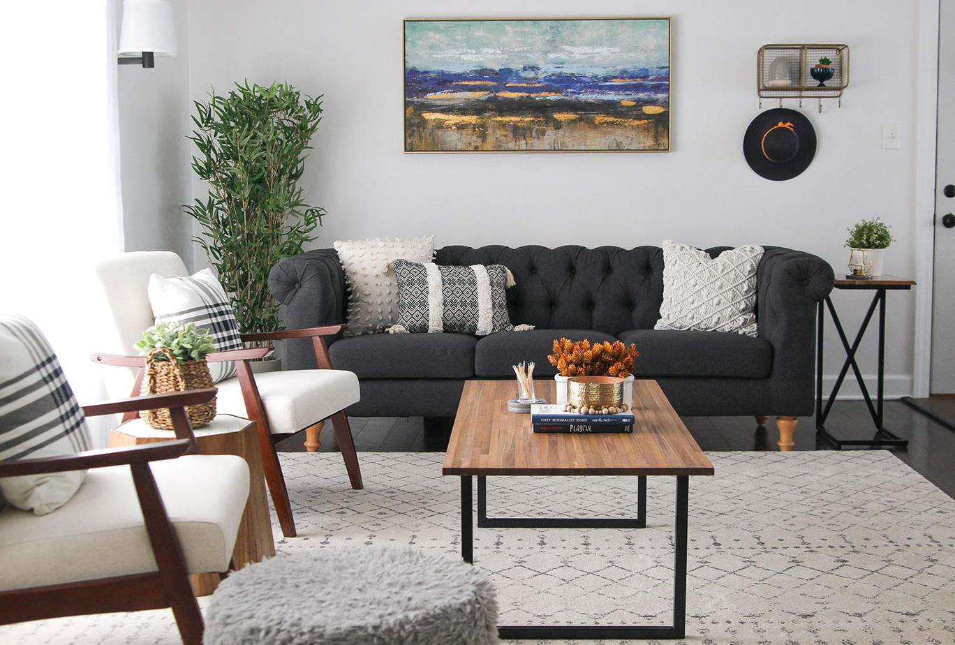 6. Pick furniture with exposed legs by simphome.com