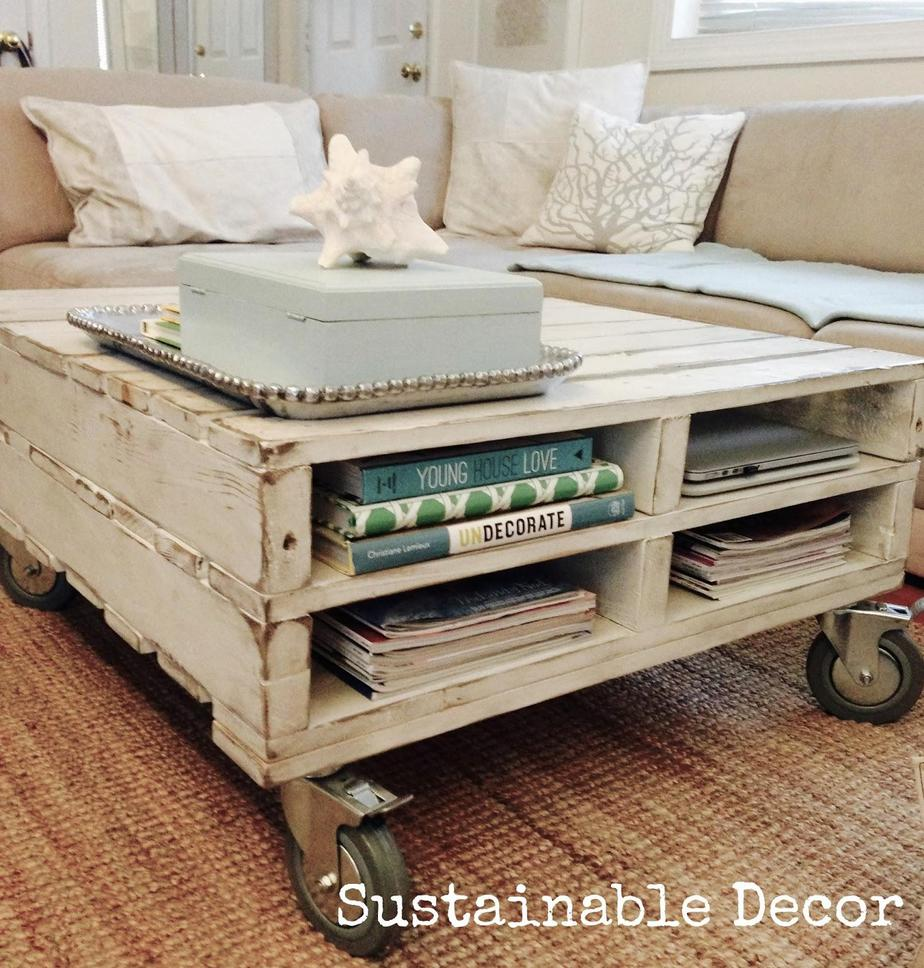 6. upcycled pallet to a coffe table by simphome.com