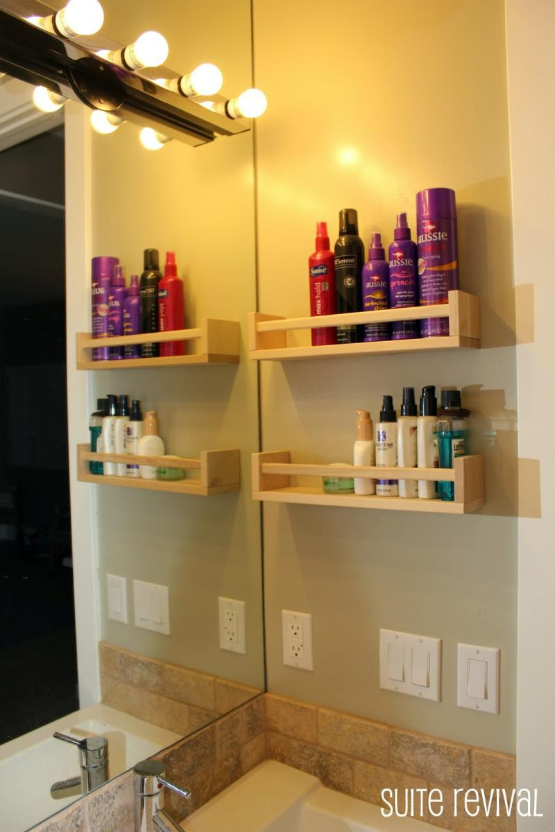 7. Spice rack storage hack for your bathroom counter by simphome.com