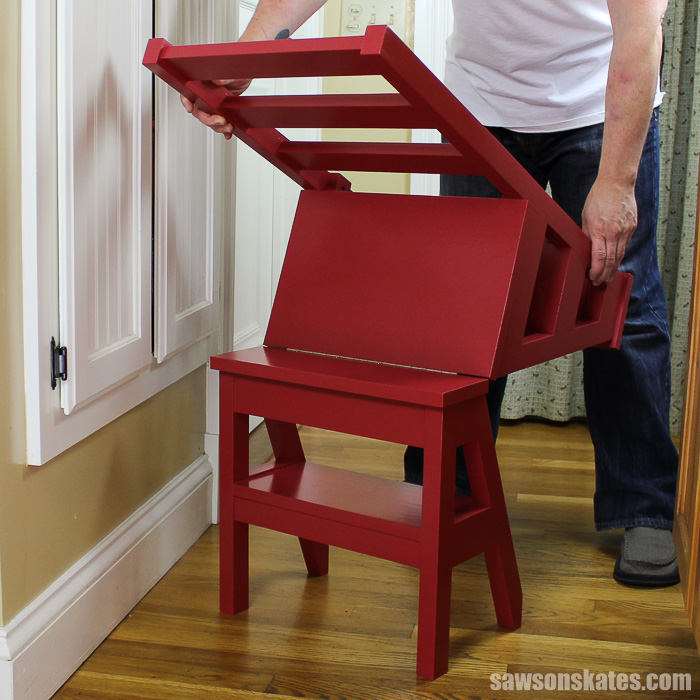 8. And craft this ladder chair to reach upper shelf by simphome.com