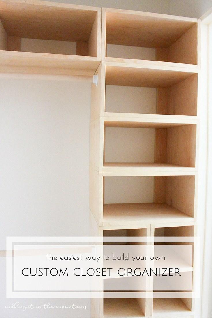 8. DIY Custom Closet Organizer and Makeover The Brilliant Box System by simphome.com