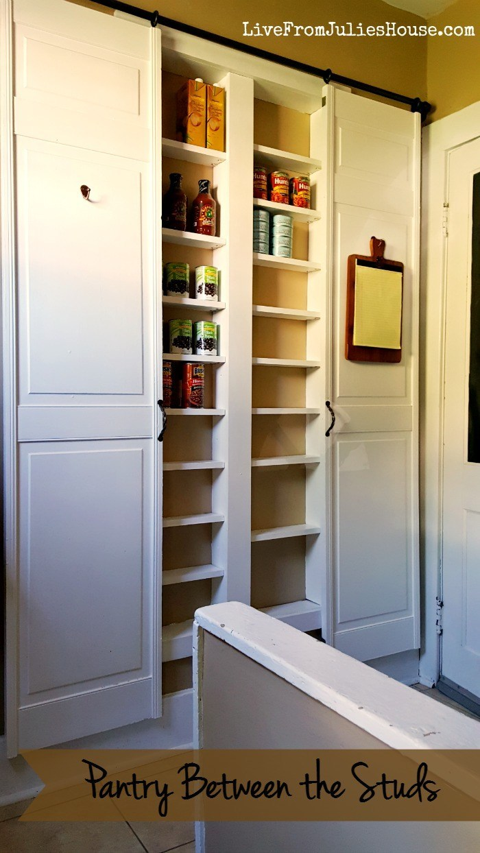 9. Build a new pantry between studs by simphome.com