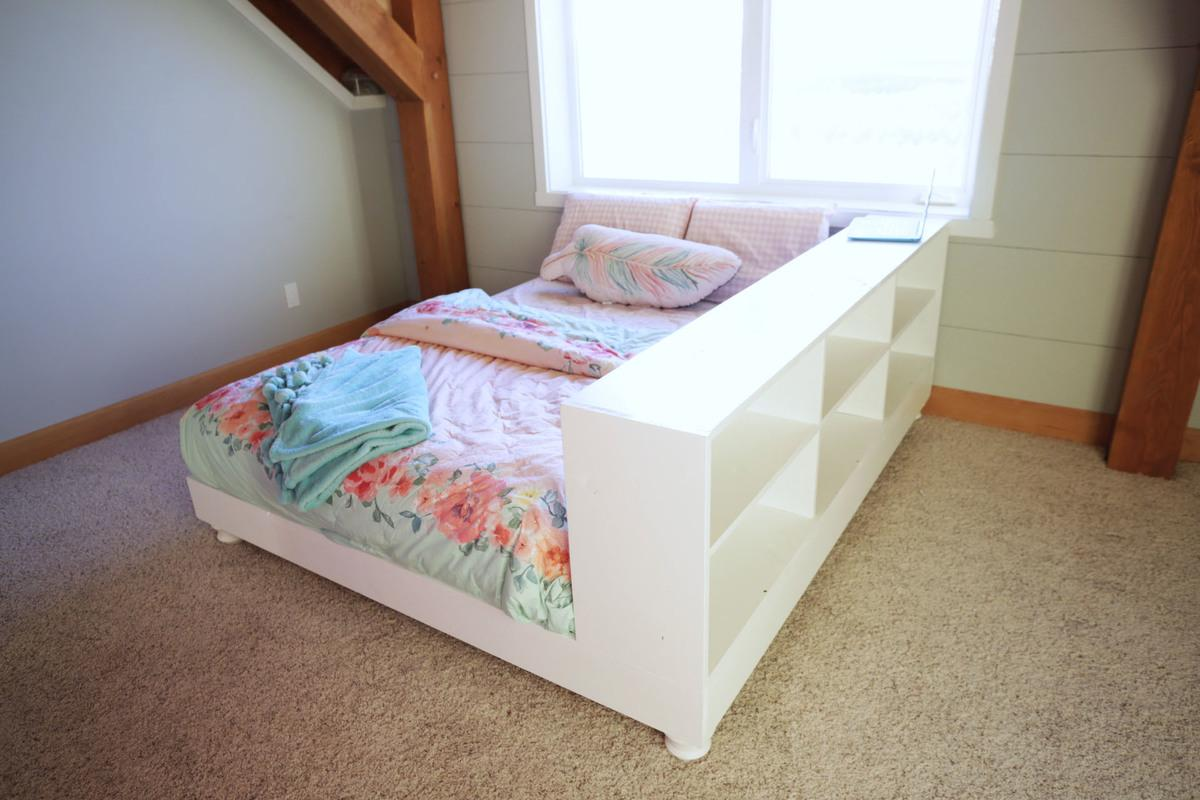 9. For your daughter try this Teen Platform Bed with Storage Side by simphome.com