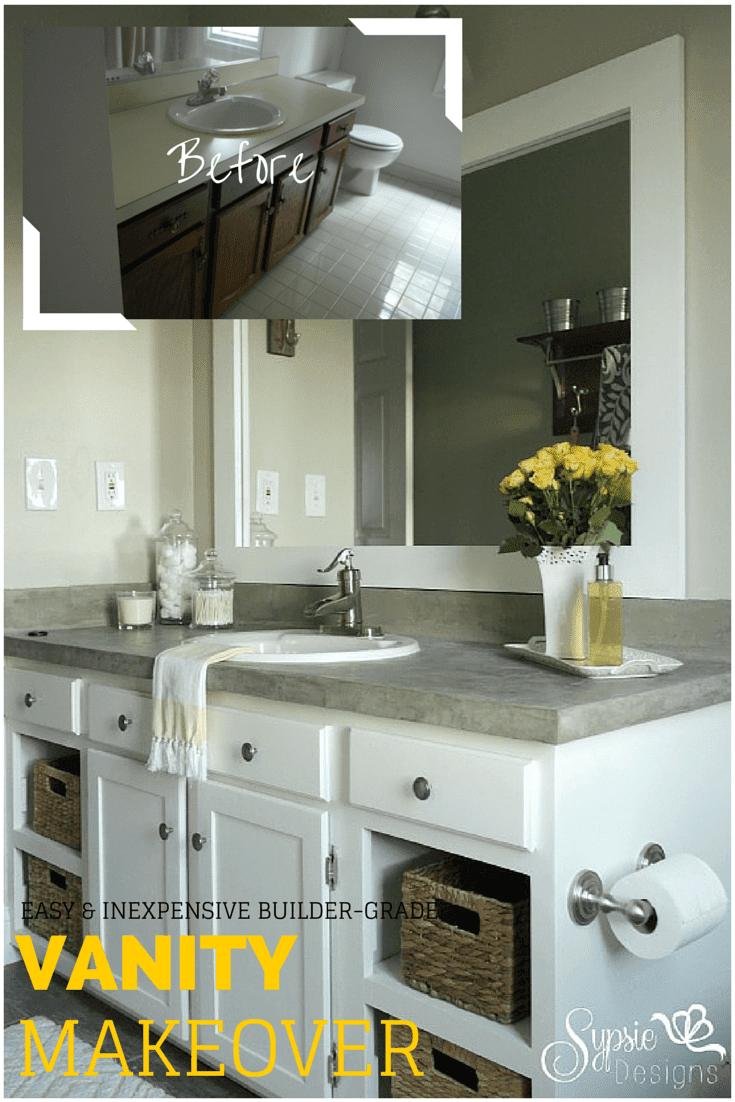 9. Old bathroom vanity revamp by simphome.com