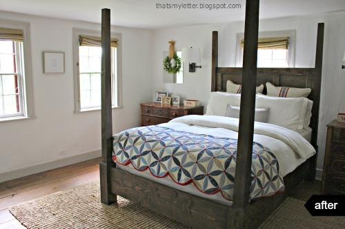 9. Vintage bedroom makeover by simphome.com