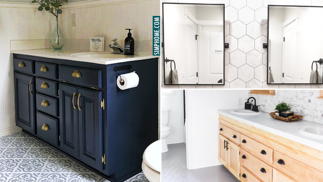 Bathroom vanity makeover ideas via Simphome.com