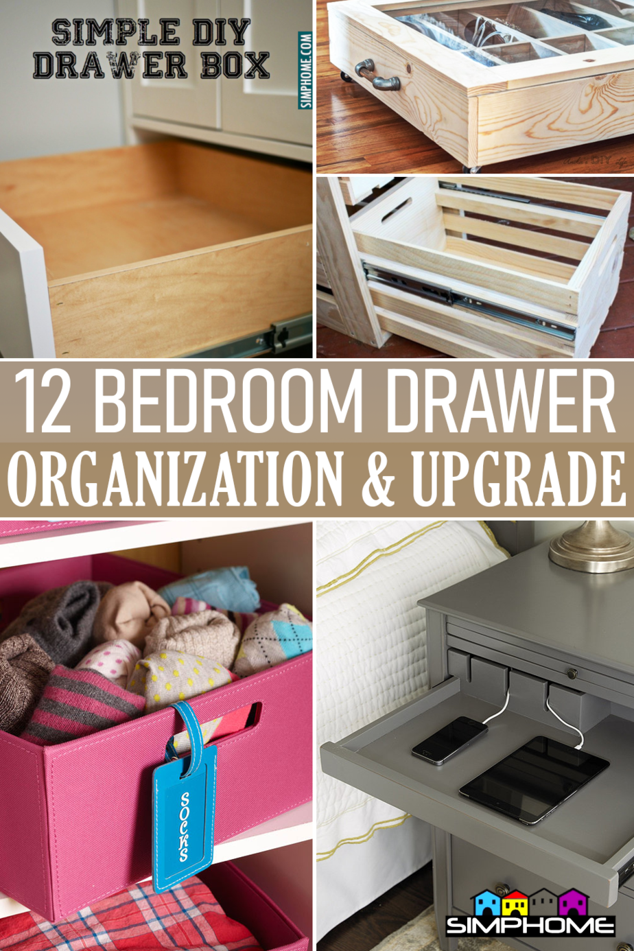 Bedroom Drawer and Organization via Simphome.comFeatured Thumb