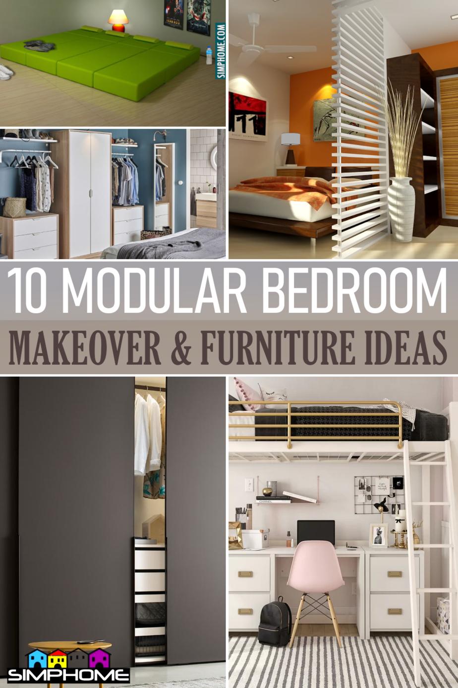 Modular Bedroom Furniture Ideas via Simphome.comFeatured