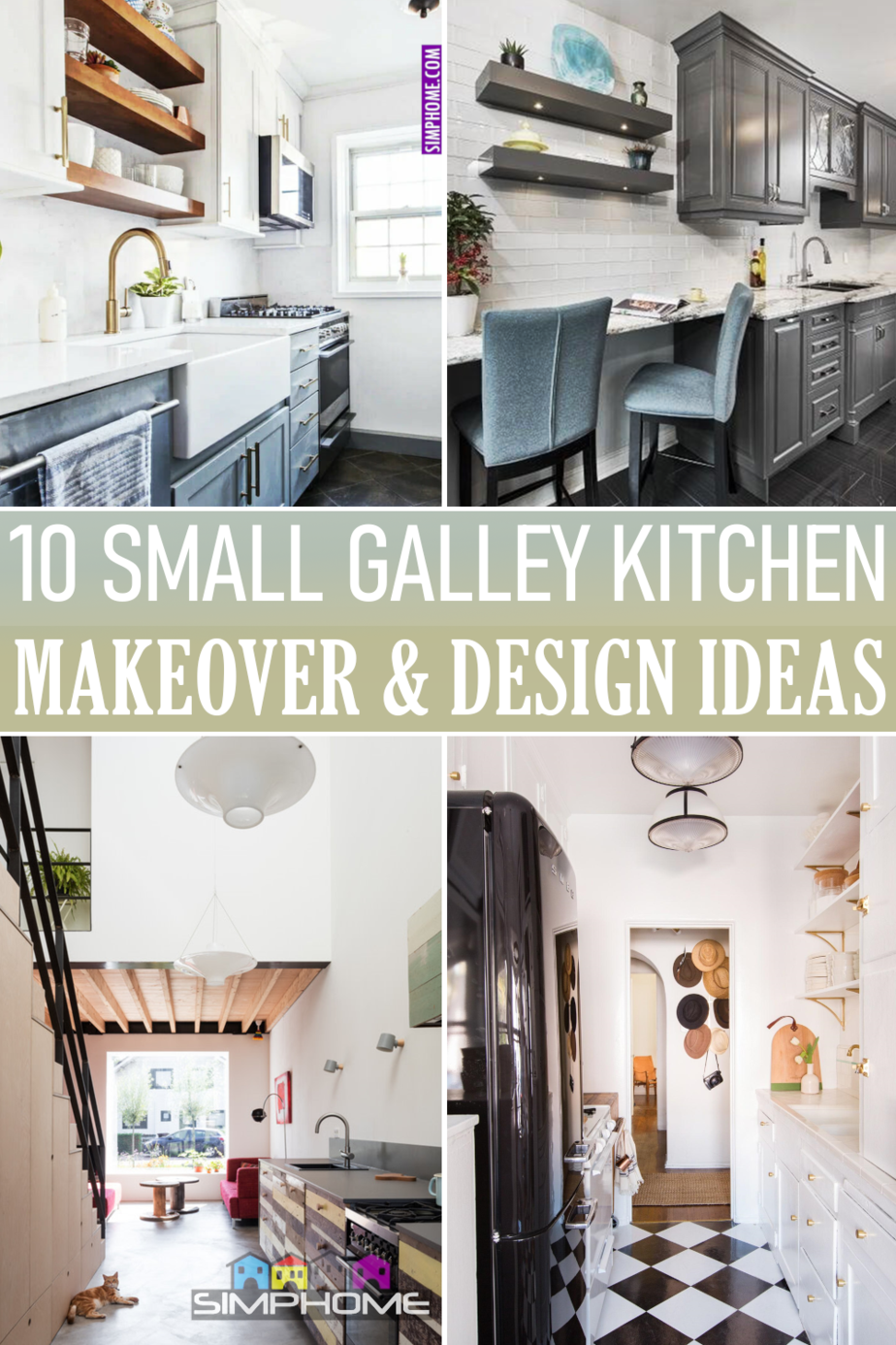 Small Galley Kitchen Makeover via Simphome.comFeatured