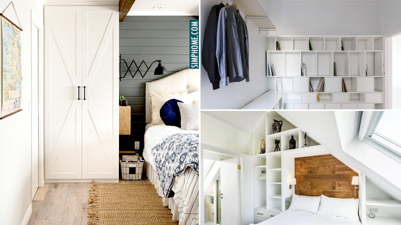 Smart Built In Storage Ideas for Bedroom via Simphome.com