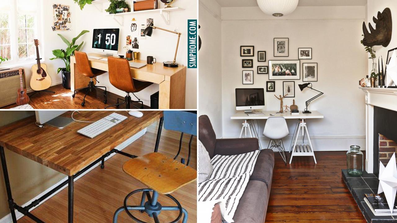 10 DIY Living Room Desk and Transformation Ideas via Simphome.comthumbnail