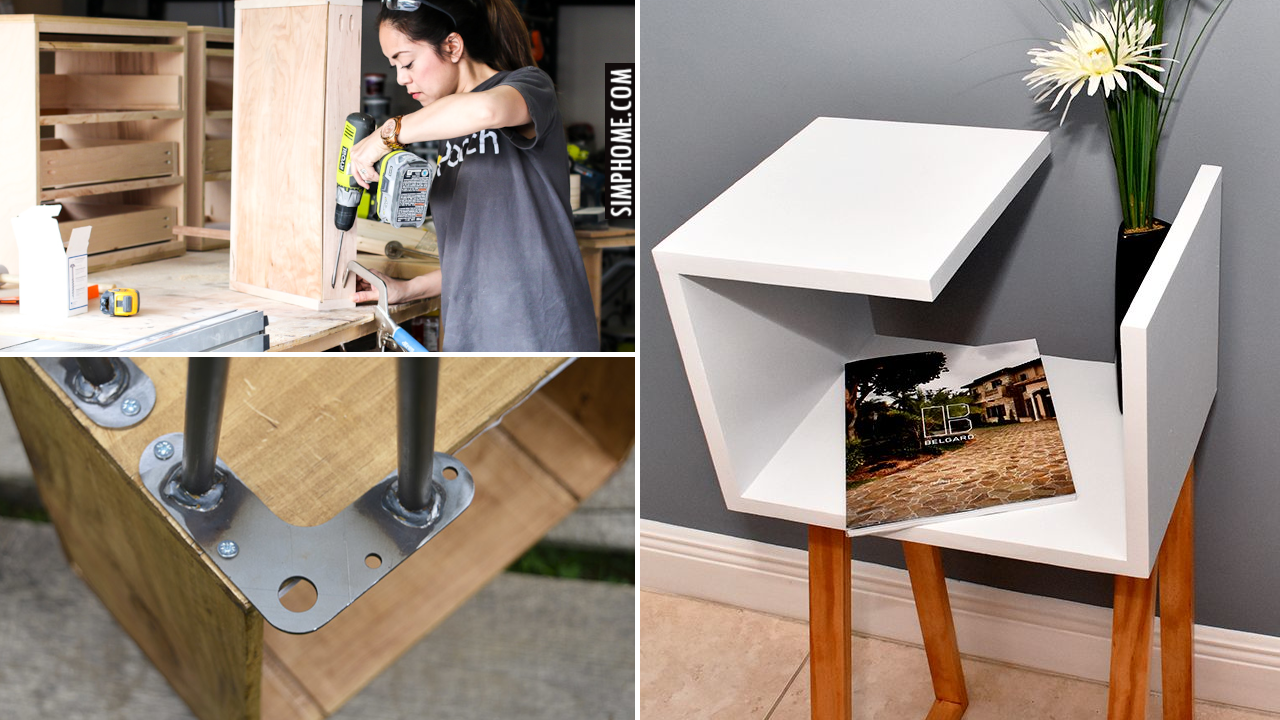 10 DIY Side Table for Bedroom Ideas via Simphome.com