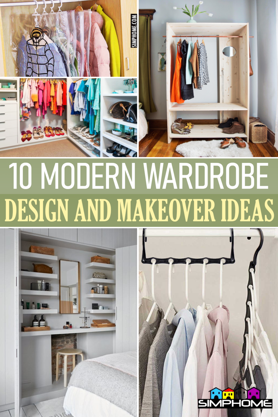 10 Modern Wardrobe Design and Makeover Ideas via Simphome.comFeatured