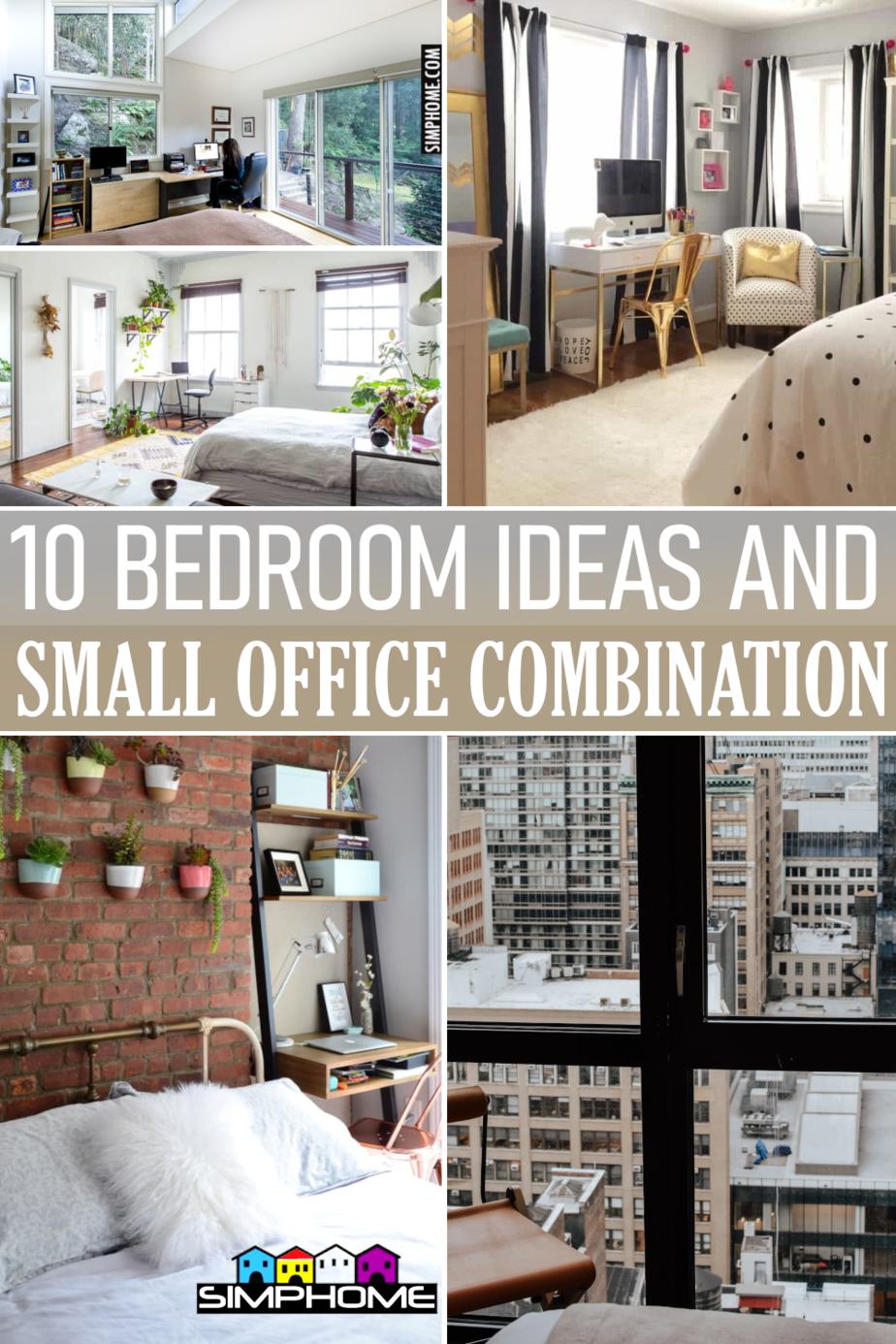 10 Office Bedroom Combo Ideas via Simphome.comFeatured