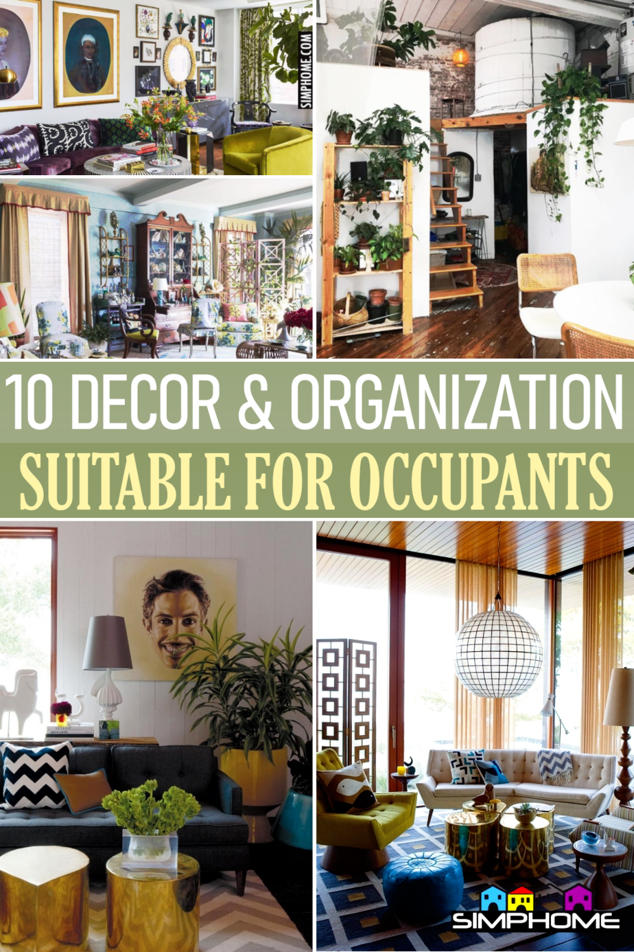 10 Renter Friendly Living Room Decor and Organization via Simphome.comFeatured
