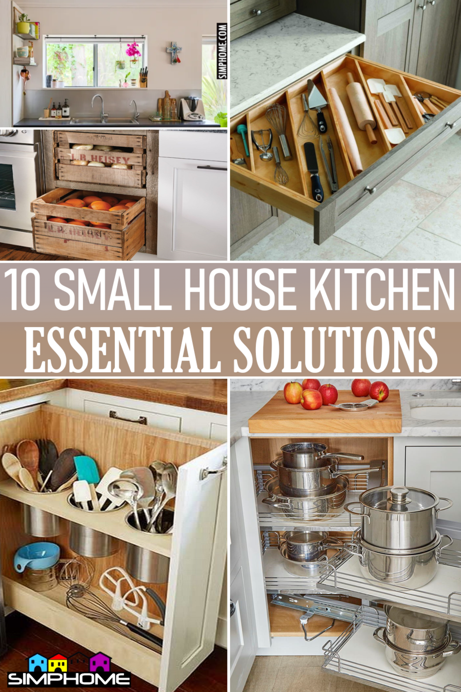 10 Small House Kitchen Essential Solutions via Simphome.comFeatured