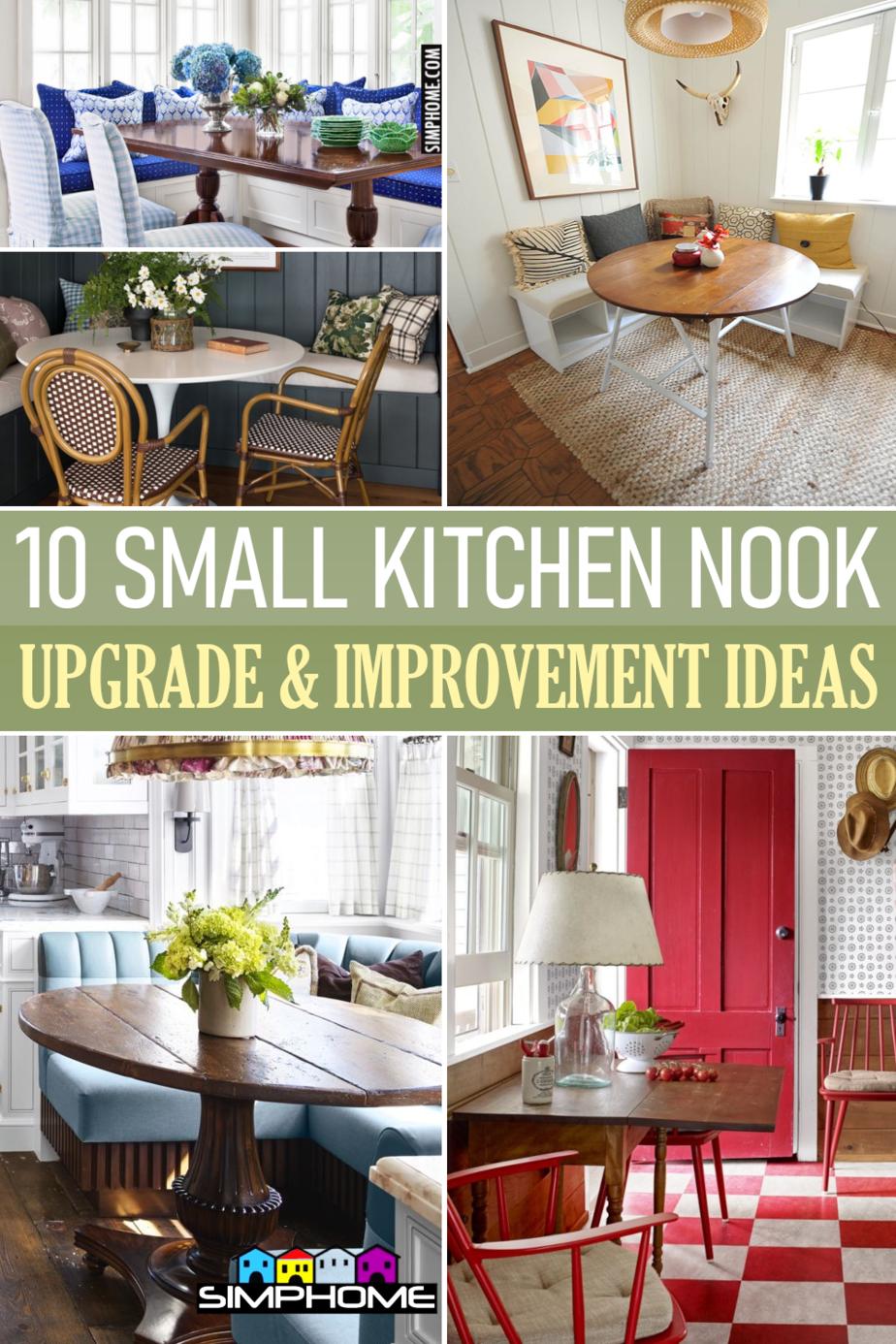 10 Small Kitchen Nook Ideas via Simphome.comFeatured Image