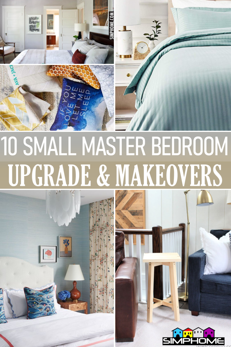 10 Small Master Bedroom Upgrade Ideas by Simphome.comFeatured