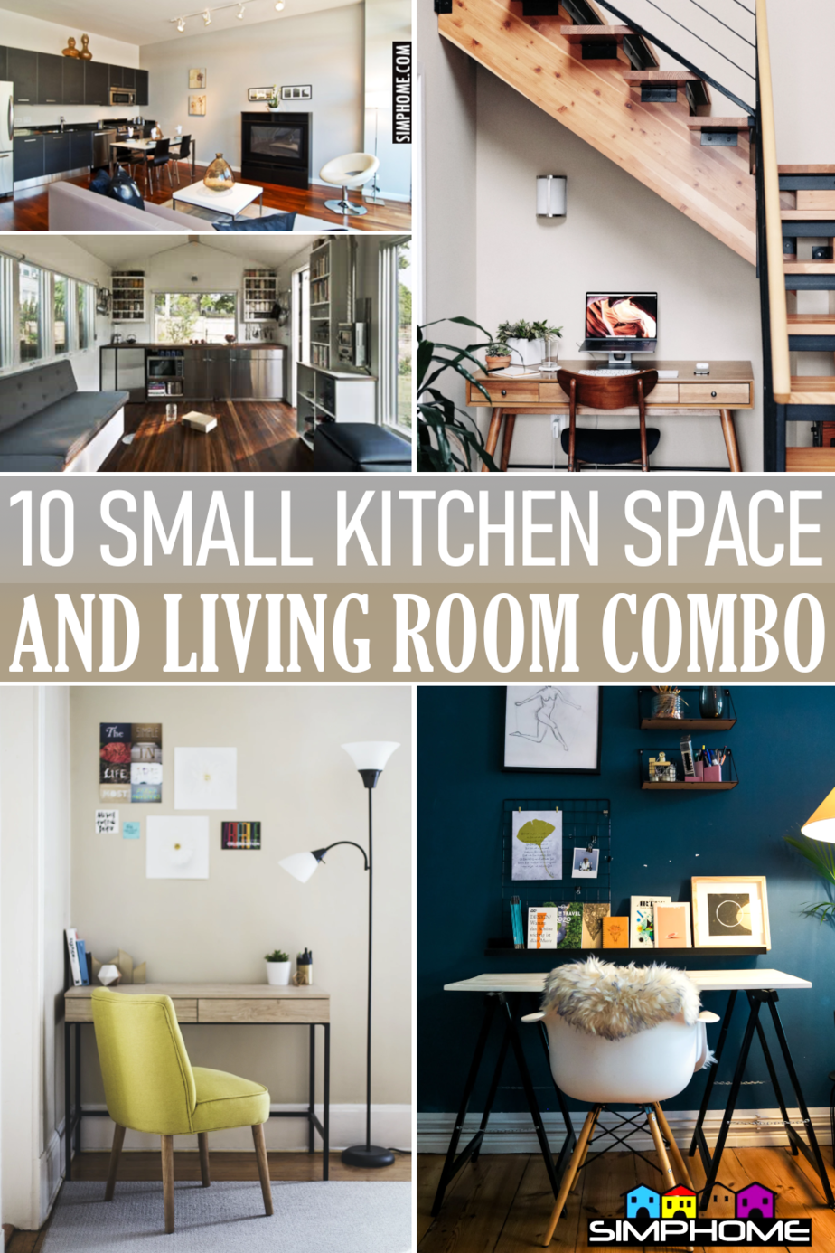 10 small kitchen living room combo via Simphome.comFeatured
