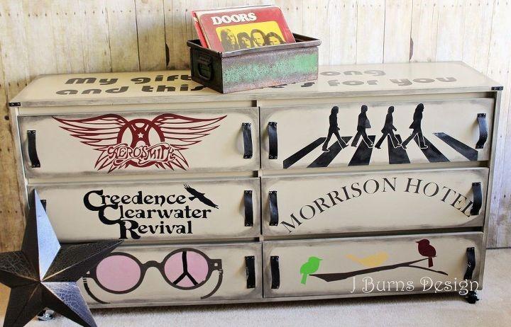10. Classic Rock Dresser An Ikea Makeover by simphome.com
