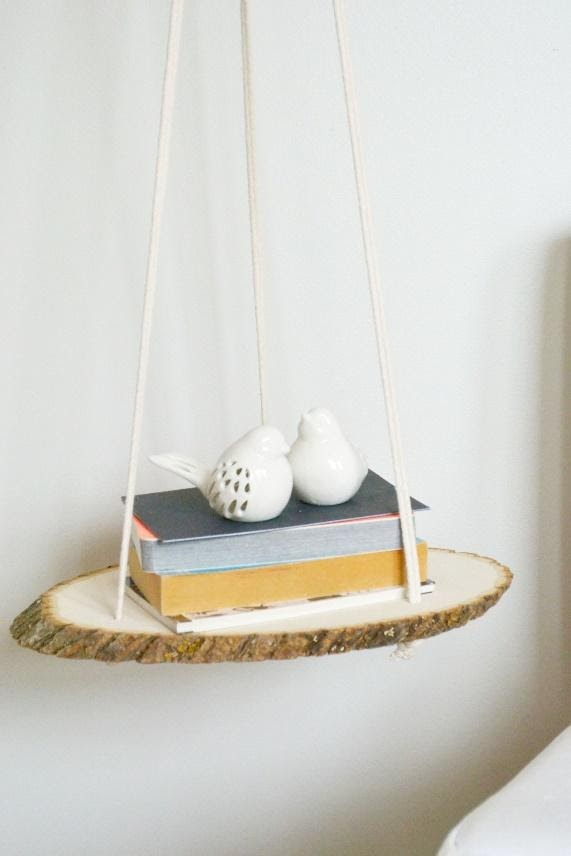 10. One Piece Hanging Side Table by simphome.com