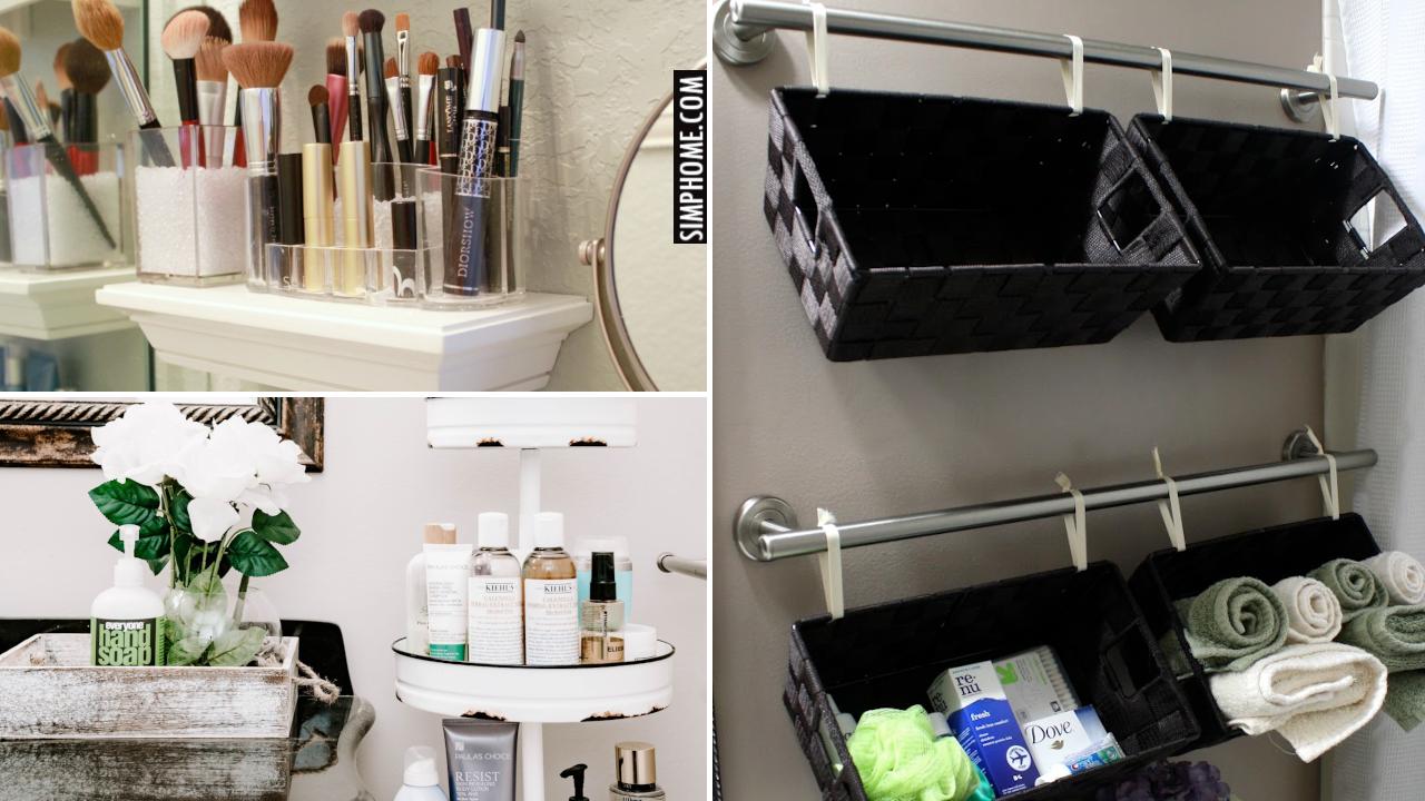12 Bathroom Counter Decor And Organization Simphome