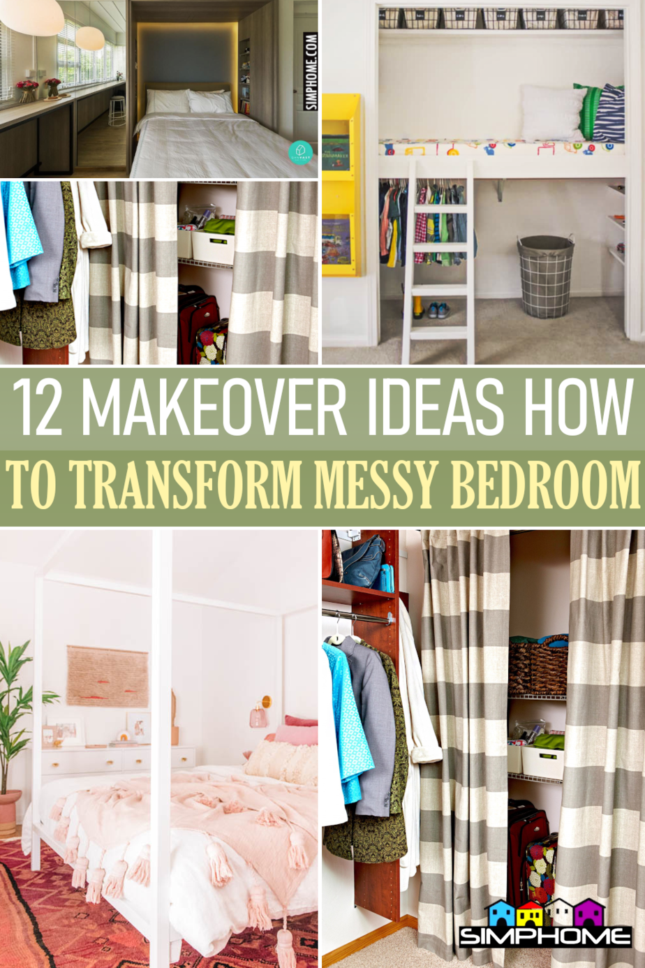 12 Bedroom Makeover Ideas to Transform a Messy Bedroom via Simphome.comFeatured