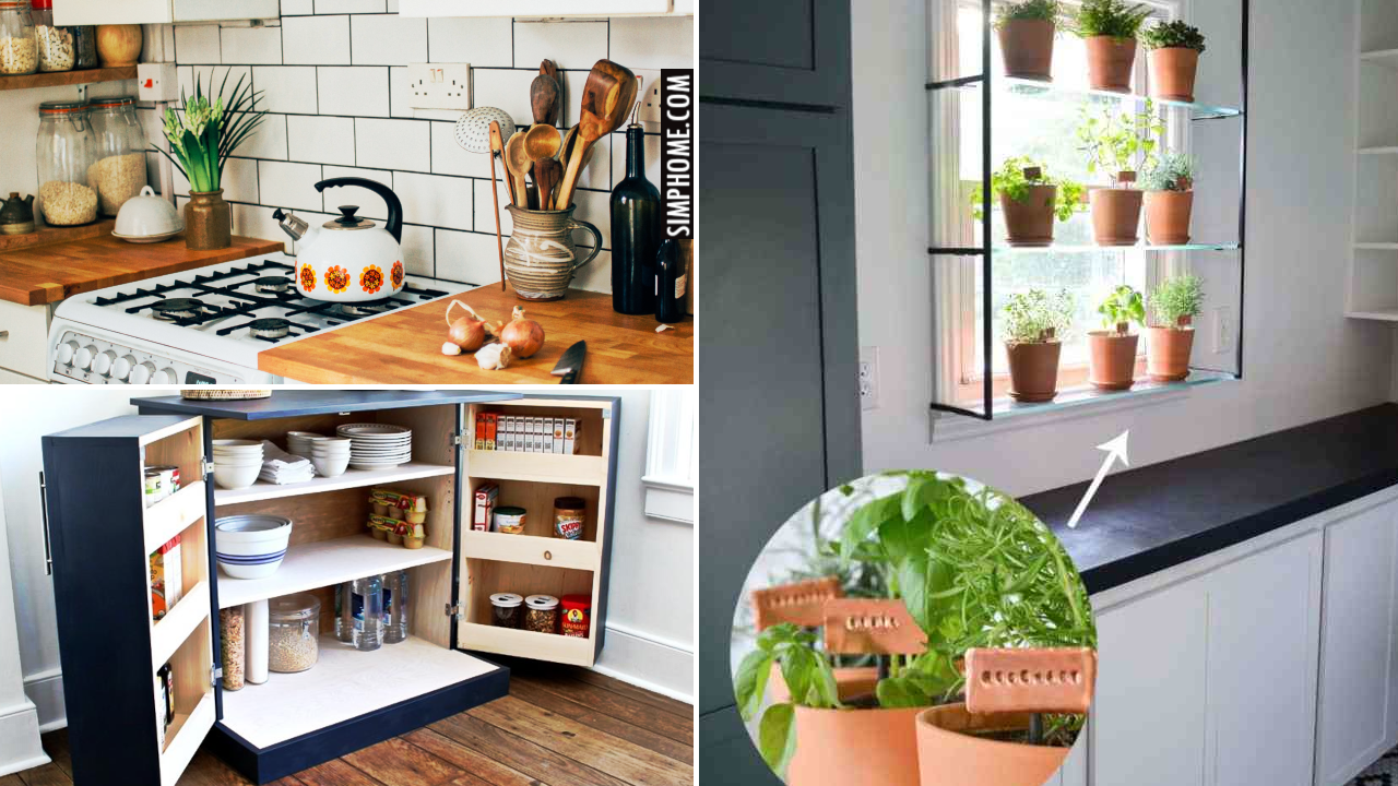 12 Budget Saving Kitchen Makeover Ideas via Simphome.comThumbnail