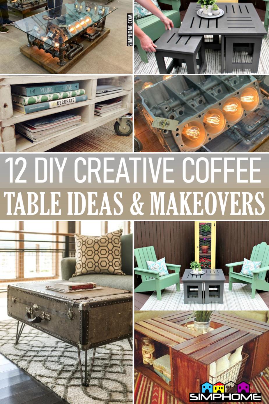 12 Coffee table ideas and DIY via Simphome.com Featured