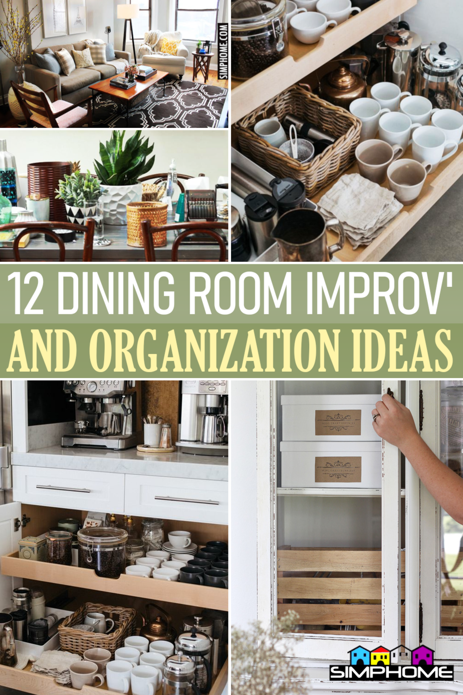 12 Dining Room Decorating and Organization Ideas via Simphome.comFeatured