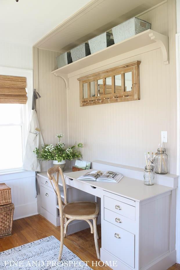 12. DIY Desk Built In for Under 50 by simphome.com
