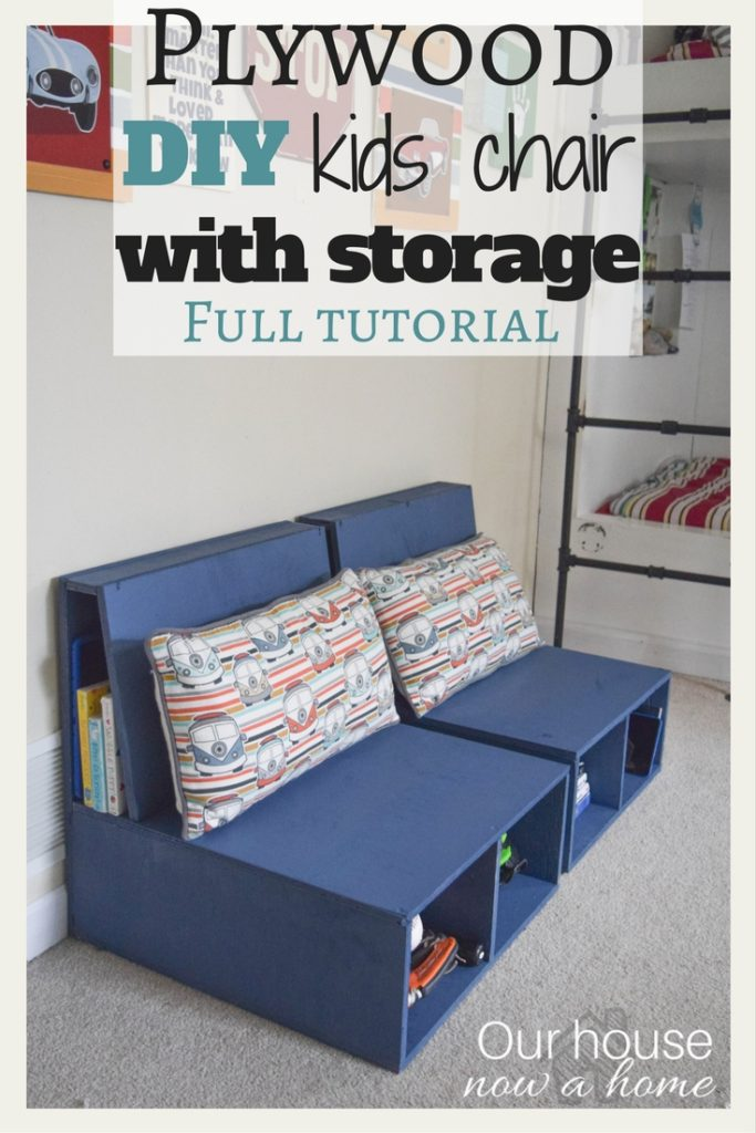 12. DIY plywood kids chairs with storage by simphome.com