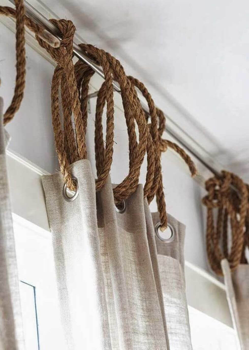 6. Unique Ideas for Hanging Curtains with Rope by simphome.com