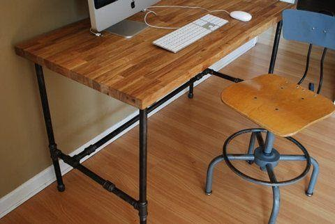 7. DIY Piping Desk by simphome.com