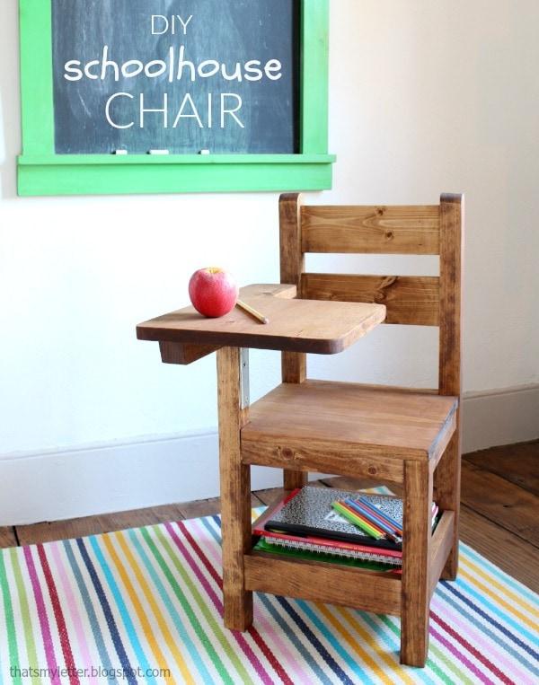 9. DIY Schoolhoue Chair by simphome.com